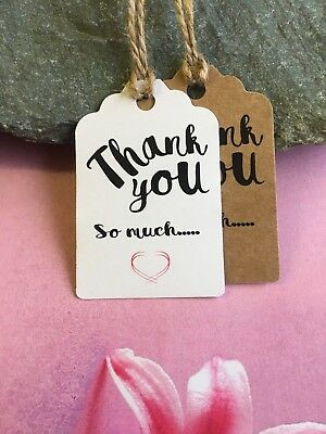 Thank You Tags Thanks Wedding Birthday Christmas Special Day Craft Handmade 8011 • 1.49£