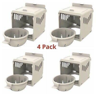 4 X Canary Nest Pans Luxury External Nest Boxes For Canaries, Small Birds • 21.99£