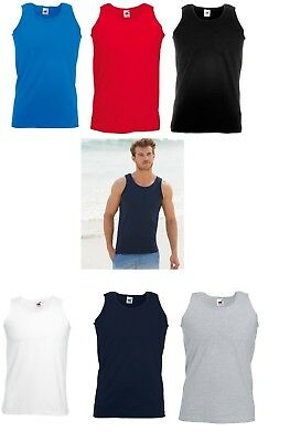 £10.95 • Buy 5 Or 3 Packs Fruit Of The Loom 100% Cotton* Valueweight Athletic Vest Sleeveless