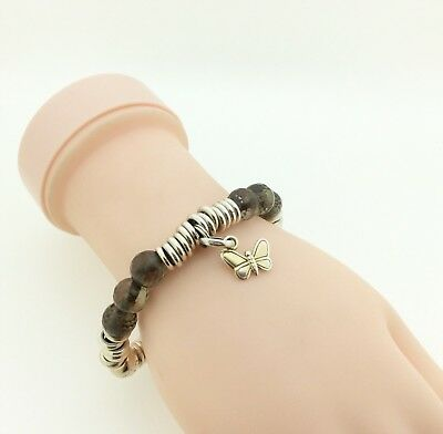 Links Of London Sweetie Bracelet With Brown Crystal, Butterfly Charm RRP £195 • 52.25£
