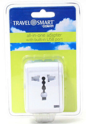 AU14.17 • Buy Conair Travel Smart All In One Adapter USB Port U.K. Europe USA Australia