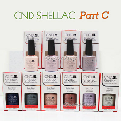 AU8.94 • Buy CND SHELLAC UV Gel Nail Polish Base Top Coat 7.3ml 0.25oz Pick ANY Color PART C