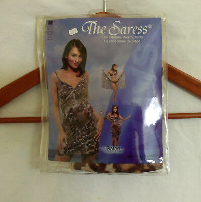 New The Saress Ultimate Beach Dress Bathing Suit Cover Up Size Med 8-10 Safari • 7.12£