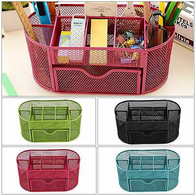 £8.59 • Buy Pencil Tray Mesh Pen Holder Stationery Container Storage Desk Tidy Organiser