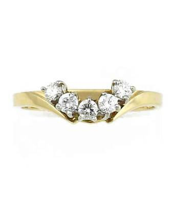 AU1200 • Buy Curved Diamond Anniversary Ring Set With .35cts Diamonds - 18ct. Y/Gold