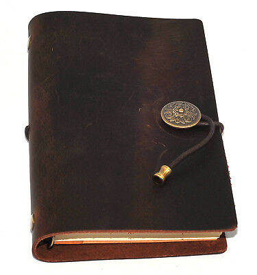 £16.99 • Buy Leather Notebook Journal Handmade Vintage Leather Travel Diary Notepad 12 X 19cm