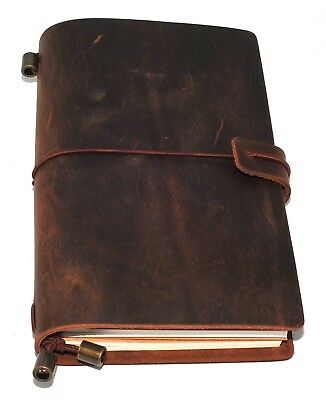 £15.99 • Buy Leather Notebook Journal Handmade Vintage Leather Travel Diary Notepad 11 X 17cm