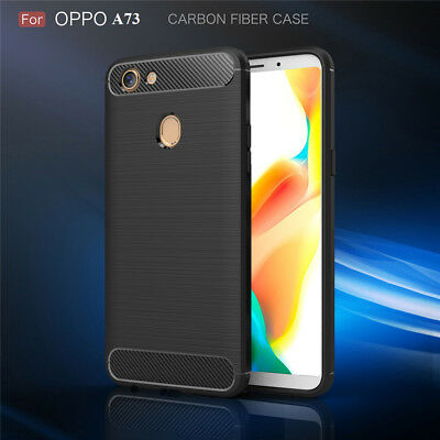 AU8.95 • Buy Carbon Fiber Hybrid Heavy Duty Shockproof Case Cover For Oppo A73 AX5 Case