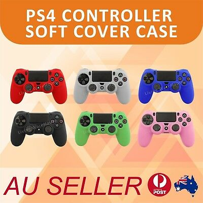 AU5.99 • Buy Soft Silicone Cover Skin Rubber Grip Case For Sony Playstation 4 PS4 Controller