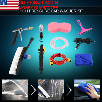 $25.46 • Buy DC 12V 70W High Pressure Car Washer Cleaner Water Wash Pump Sprayer Kit Tool