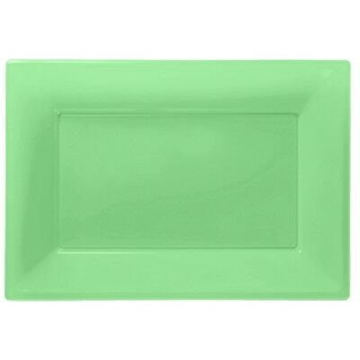£3.99 • Buy Green Plastic Serving Platters Tray Party Buffet Food Celebration BBQ Wedding