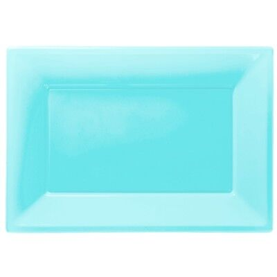 £3.99 • Buy Baby Blue Plastic Serving Platters Tray Party Buffet Food Celebration Wedding