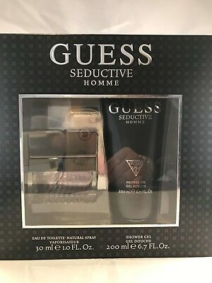 Guess Seductive Homme Gift Set 30ml EDT & 200ml Shower Gel, New, Some Box Damage • 20£