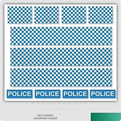 Police Decals Road Mountain Bike/Bicycle, Toy Car Stripes Frame Stickers • 1.99£