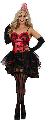£15 • Buy Womens Sexy Burlesque Wild West Showgirl Can Can Fancy Dress Costume Outfit (FO)