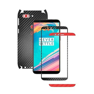 AU14.07 • Buy TwoTone Black Carbon Skin +14 Colors,Full Body Decal Case Wrap, OnePlus 5T