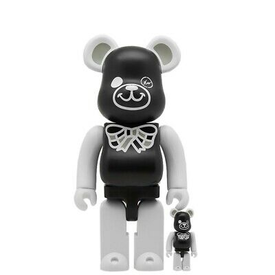 $169.99 • Buy Medicom BE@RBRICK X Freemasonry Fragment Design Black 100% 400% Bearbrick Figure