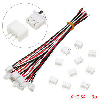 AU3.78 • Buy 10sets Mini Micro JST XH2.54mm 3-Pin Connector Plug With Wire Cable 150mm ST