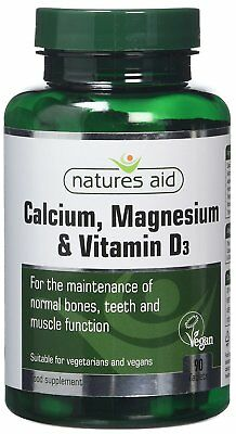 £7.08 • Buy Calcium Magnesium And Vitamin D3 Food Supplement (90 TABLETS) - Natures Aid NEW