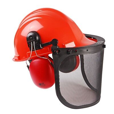 £25.50 • Buy Chainsaw Safety Helmet, Mesh Visor And Ear Muffs For Mitox Users