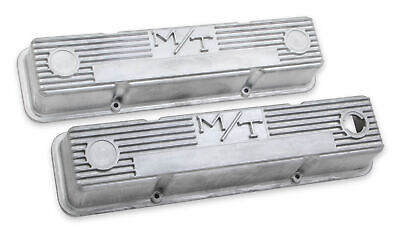 $145.95 • Buy Holley 241-86 M/T Valve Covers For Small Block Chevy Engines – Natural Cast F...