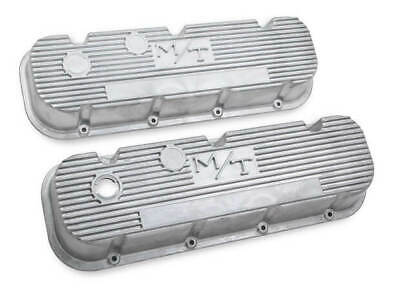 $168.95 • Buy Holley 241-87 M/T Valve Covers For Big Block Chevy Engines – Natural Cast Finish