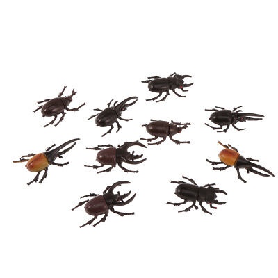 £4.58 • Buy 10pcs Stag Beetle Insects Model Animal Figure Collection Kids Trick Toy Gift