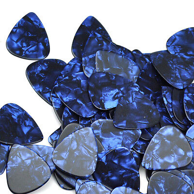 $ CDN15.20 • Buy Lots Of 100pcs Heavy 1mm Gauge Guitar Picks Plectrums Celluloid Blue Pearl New