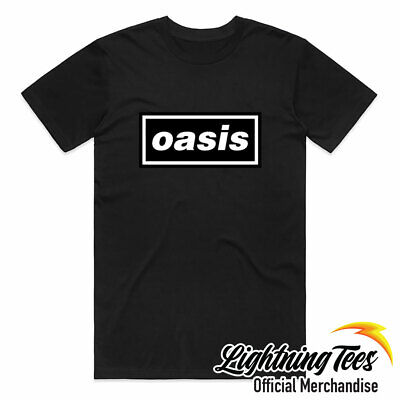 £14.95 • Buy Official Oasis Logo Definitely Maybe Noel Liam Gallagher Band T-Shirt