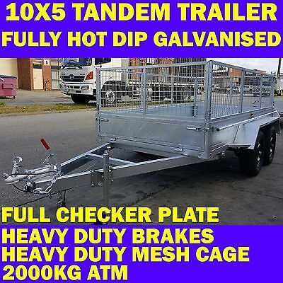 AU2699 • Buy 10x5 Galvanised Trailer Tandem Trailer With Cage Heavy Duty