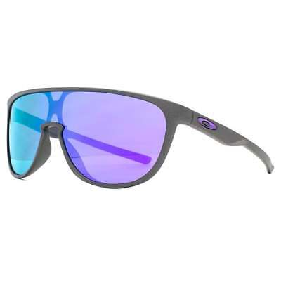 AU179 • Buy New Oakley Sunglasses Trillbe Pilot Wraparound Steel / Violet Iridium OO9318-04