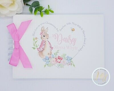 £13.99 • Buy Personalised Peter Rabbit Birthday Christening-naming - Baby Shower Guest Book