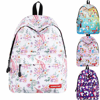 AU39.99 • Buy 16'' Girls Unicorn Printed Laptop Student School Travel Shoulder Backpack Bag