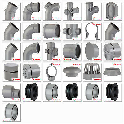 Polypipe 110mm Ring Seal, Push Fit Soil And Vent Pipe Fittings In Grey • 7.91£