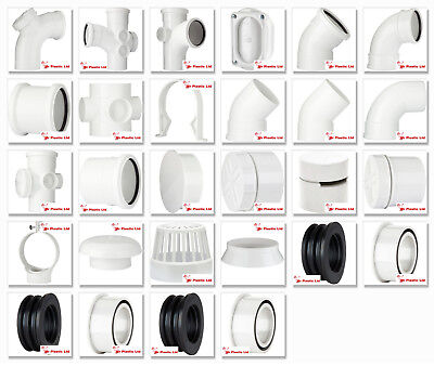Polypipe 110mm Ring Seal, Push Fit Soil And Vent Pipe Fittings In White • 7.91£