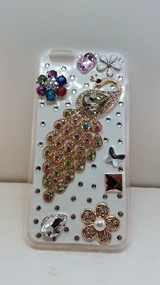Iphone 6 3D Bling Crystal Diamond Peacock Luxury Fashion Phone Case Iphone 6 • 6.99£
