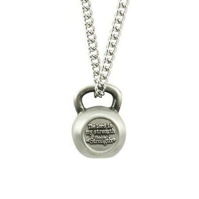 $29.99 • Buy Men's Antique Finish Kettle Bell Necklace-Psalm 28:7 Shields Of Strength