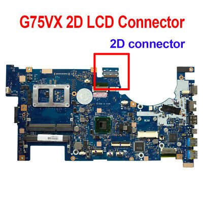 AU120.57 • Buy For Asus G75VX Laptop Motherboard 2D LCD Connector 60-NLEMB1101-C04 Mainboard