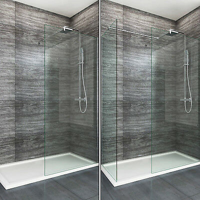 £86.99 • Buy Walk In Enclosure &Tray Wet Room Shower Screen And End Panel 8mm EasyClean Glass