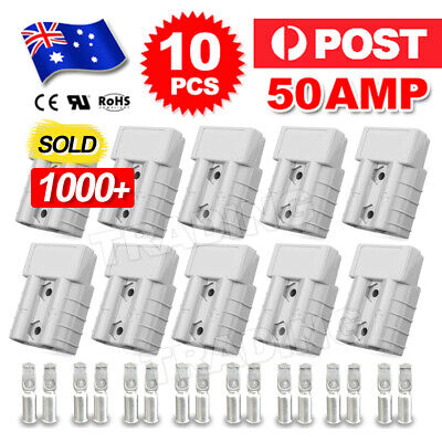 AU15.85 • Buy 10 X Anderson Style Plug Connector 50 AMP Plug Connectors DC Power 12-24V 6AWG