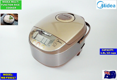 AU139 • Buy Midea Multi-Function Rice Cooker W/ Keep Warm & Display MB-FS5017 (10 Cups/1.8L)