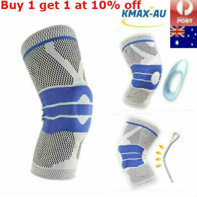 AU16.99 • Buy Contoured Full Knee Brace Strap Patella Medial Support Protector Silicone Gel