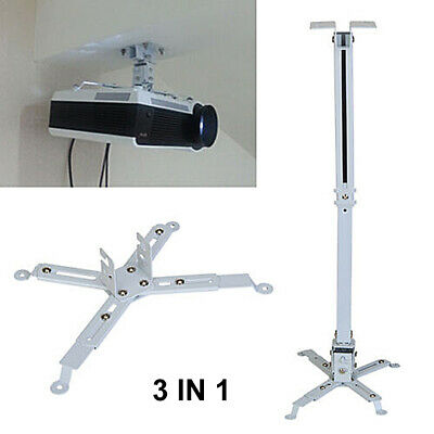 Universal Projector Ceiling Wall Mount Bracket Lcd Dlp Monitor Tilt Extendable • 7.99£