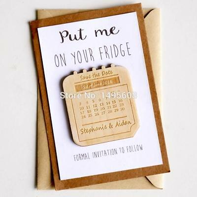 AU25.94 • Buy Wedding Invitation Personalized Save The Date Magnets