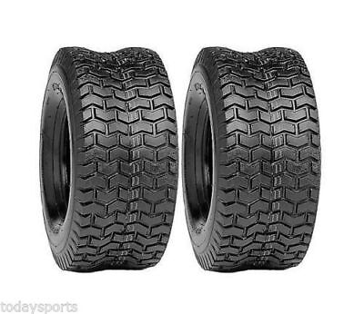 £36.82 • Buy TWO LAWN 15X6X6 NHS 15X6.00-6 Turf Tires Garden Tractor Lawn Mower Riding Mower