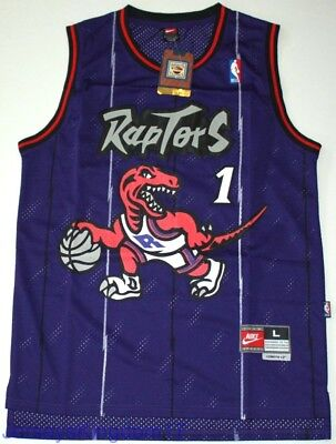 f99d2db5caa NWT Throwback Hardwood Jersey TRACY McGRADY 1 Toronto Raptors Purple Men -  Sz XL • 34.99