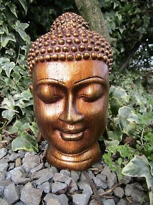 Fair Trade Hand Made Resin Thai Buddhist Buddha Head Ornament Statue Sculpture • 17.99£