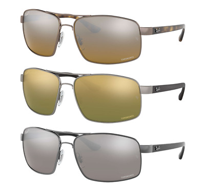 View Details Ray Ban Chromance Polarized Sunglasses RB3604CH Silver Or Green Or Brown Lens • 89.99$