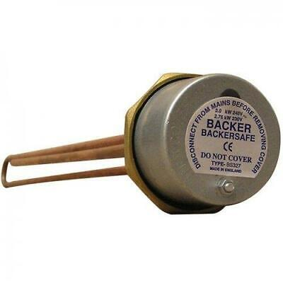 Immersion Heater & Thermostat. Various Lengths. Backer Brand • 18.75£