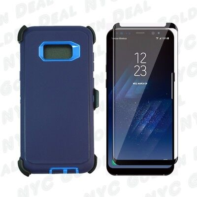 $ CDN15.25 • Buy Navy For Samsung Galaxy S8+Plus Defender Case W/ Screen & Clip Fits Otterbox